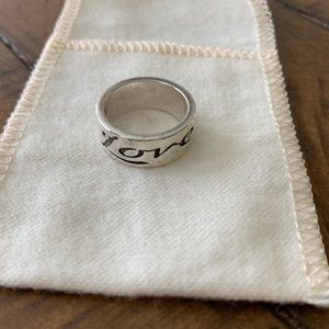 RETIRED James Avery Love Ring - size 5